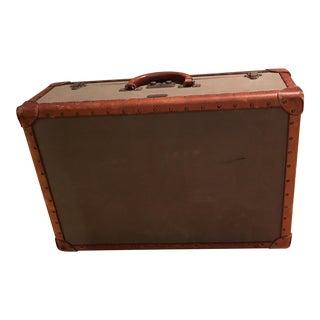 Vintage Ralph Lauren Canvas/Leather Suitcase For Sale