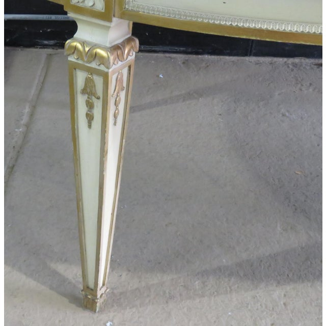 20th Century Swedish Paint Decorated Dining Table For Sale - Image 4 of 12