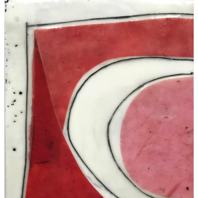 """Gina Cochran """"Perceptions No. 15"""" Encaustic Collage Painting For Sale - Image 4 of 8"""