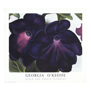 Georgia O'Keeffe- Black and Purple Petunias For Sale