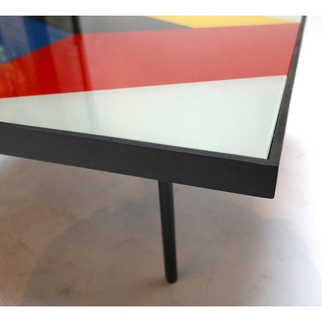 Reverse Painted Glass Coffee Tables - a Pair For Sale In Los Angeles - Image 6 of 7