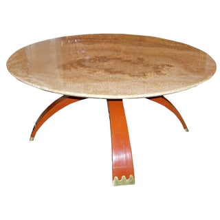 Osvaldo Borsani Round Cocktail or Occasional Table Italy Circa 1936 For Sale
