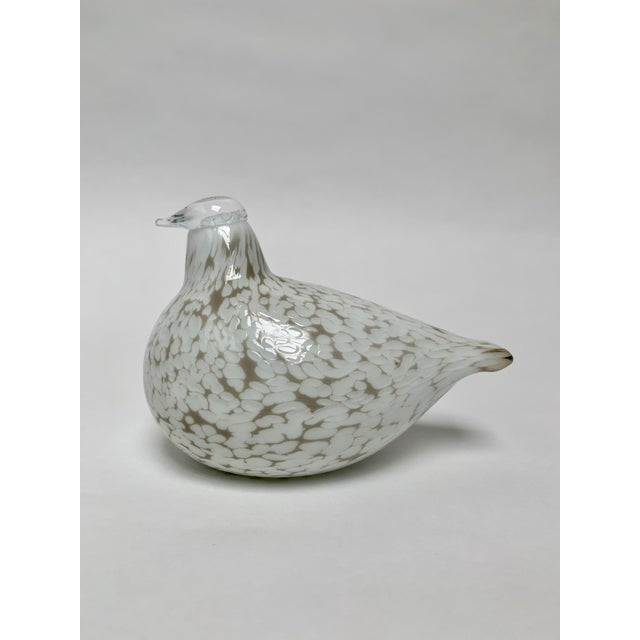 Final Markdown Oiva Toikka for Iittala Finland Mouth Blown Glass Bird Figurine For Sale - Image 12 of 12