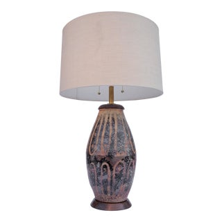 Hand Thrown Ceramic Table Lamp For Sale