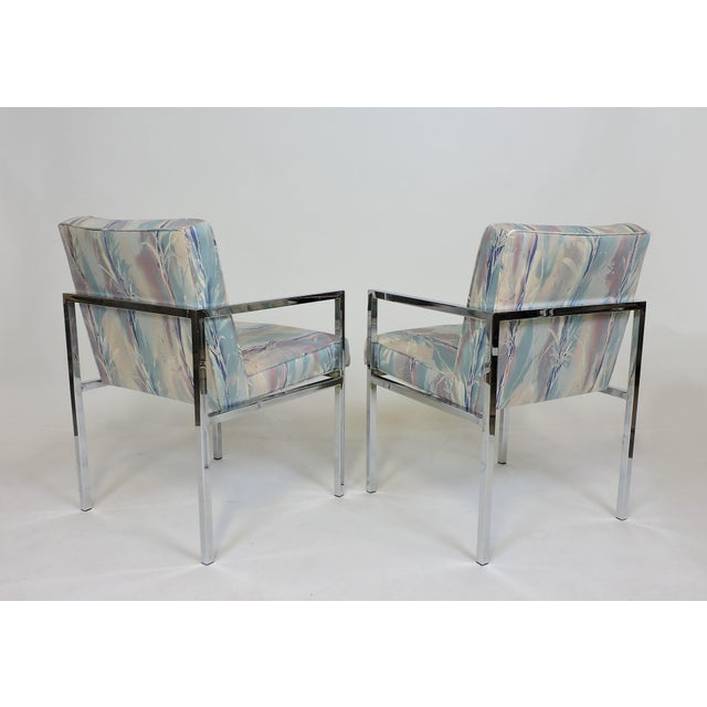 Metal Six Design Institute of America Dia Mid-Century Modern Chrome Dining Chairs For Sale - Image 7 of 11