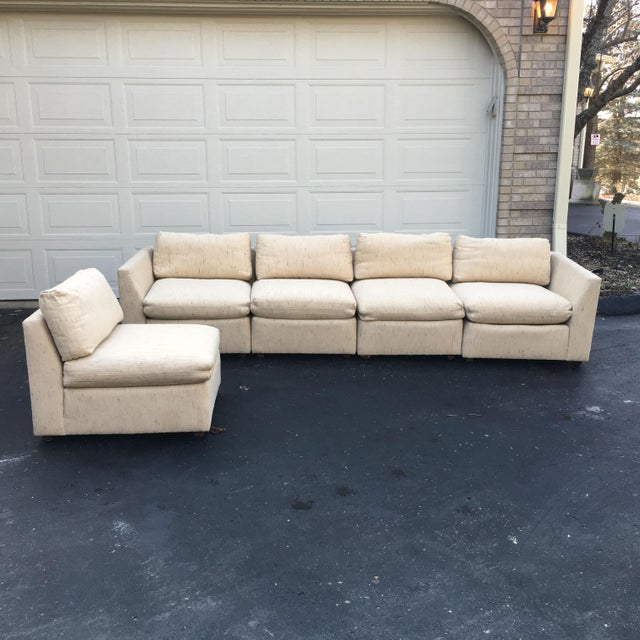 1980s Vintage Dansen 5pc Sectional Sofa For Sale In Detroit - Image 6 of 13