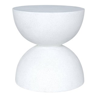 Cast Resin 'Bilbouquet' Side Table in White Stone Finish by Zachary A. Design For Sale