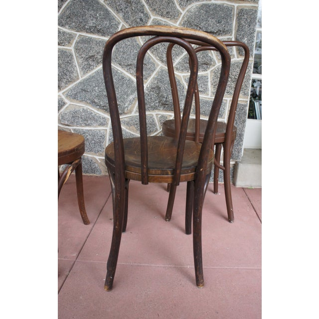 1940s 1940s Antique Thonet Model 18 Cafe Chairs - Set of 4 For Sale - Image 5 of 13