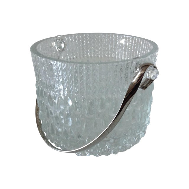 Mid-Century French Glass Teardrop Ice Bucket For Sale