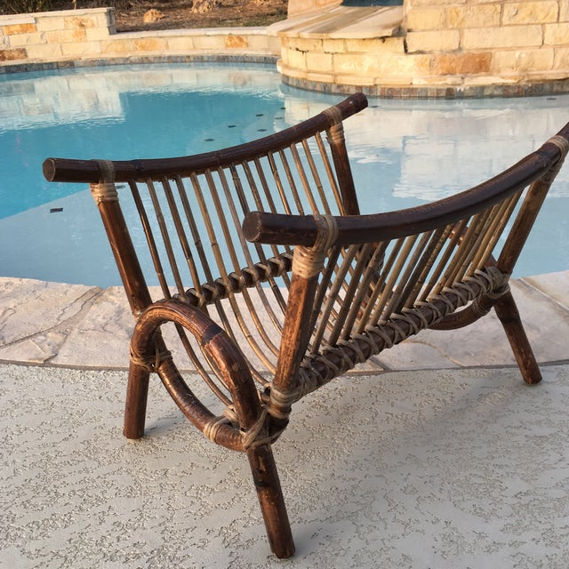 Bentwood & Rattan Magazine Rack For Sale - Image 9 of 9