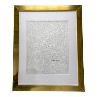 Waves Hand Embossed Drawing For Sale
