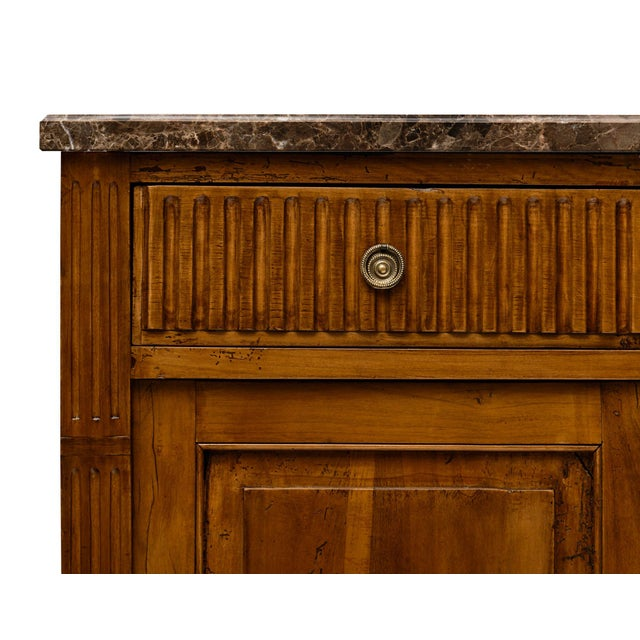 Antique French Louis XVI Style Walnut Buffet For Sale In Austin - Image 6 of 10