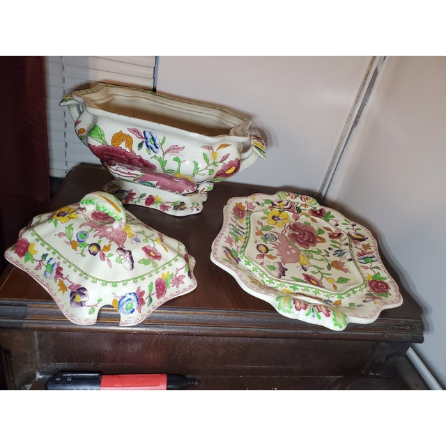 """Late 19th Century Late 19th Century Mason's Ironstone """"Regency"""" Tureen For Sale - Image 5 of 7"""