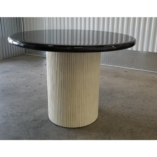 1970s Mid-Century Modern Enrique Garcel Tessellated Bone and Goatskin Center Table For Sale - Image 10 of 12