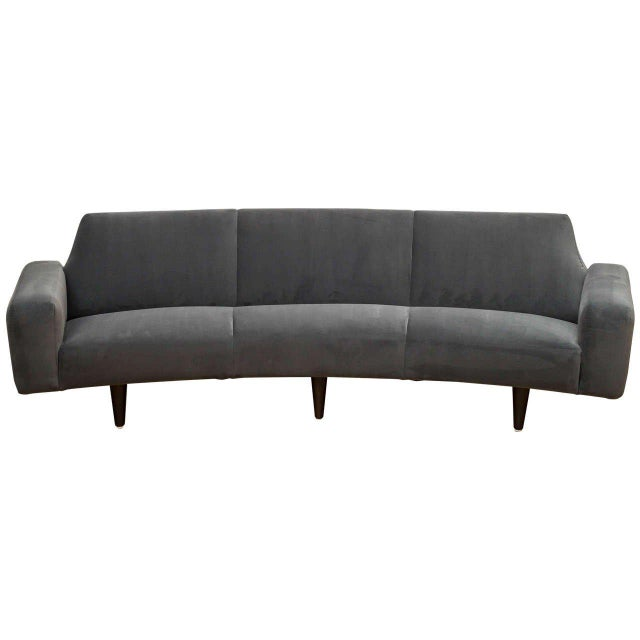 Illum Wikelso Curved Danish Sofa For Sale - Image 9 of 9