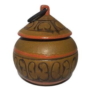 Italian Textured Lidded Pot For Sale