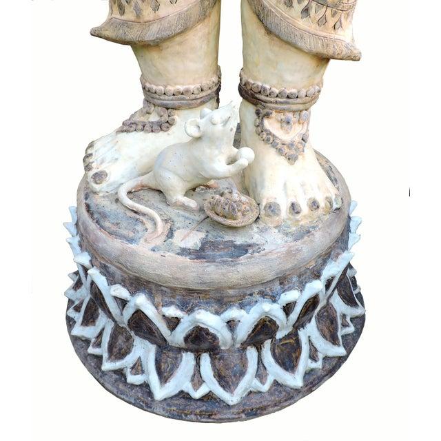 1900 - 1909 Glazed Ceramic Ganesh For Sale - Image 5 of 6