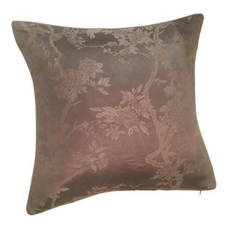 Ralph Lauren Marlow Damask Pillow For Sale