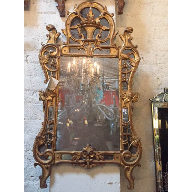 Vintage French Gilt-Wood W/Fruit Basket Motif Mirror For Sale In Los Angeles - Image 6 of 6