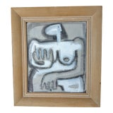 Image of Vintage Framed Female Nude #2 Painting For Sale