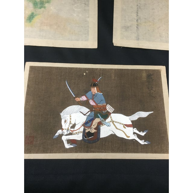 Antique Korean Silk Paintings - Set of 3 - Image 6 of 7