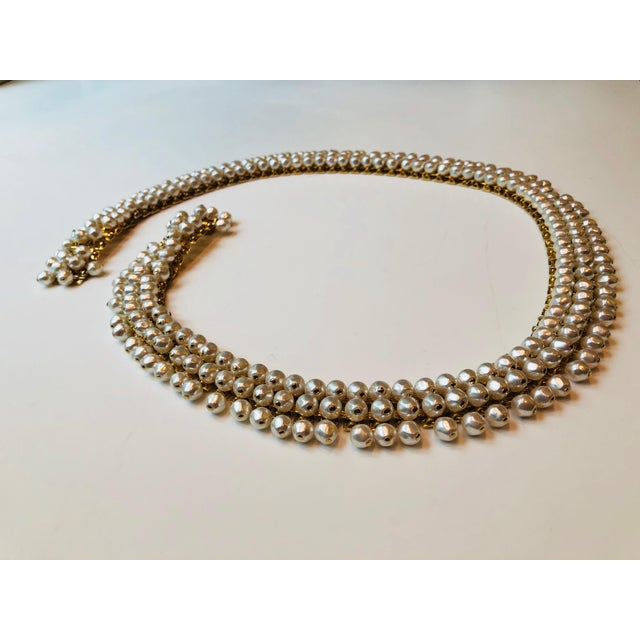 1980s 1980s Christian Dior Pearl Belt For Sale - Image 5 of 12