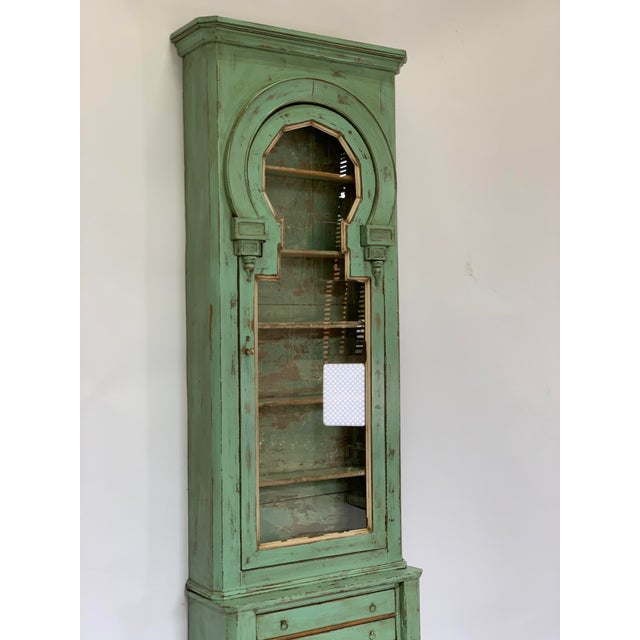 19th Century Spanish Green Pharmacy Cabinet For Sale - Image 4 of 12