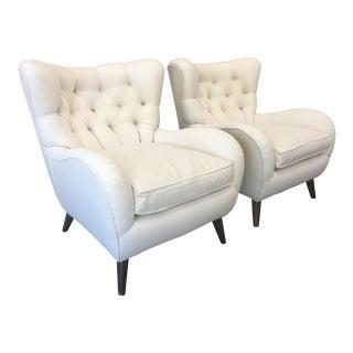 Italian Mid-Century Modern Arm Chairs - a Pair