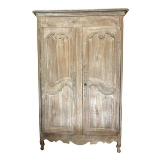 19th C. French Louis XV Armoire in Cherry Wood