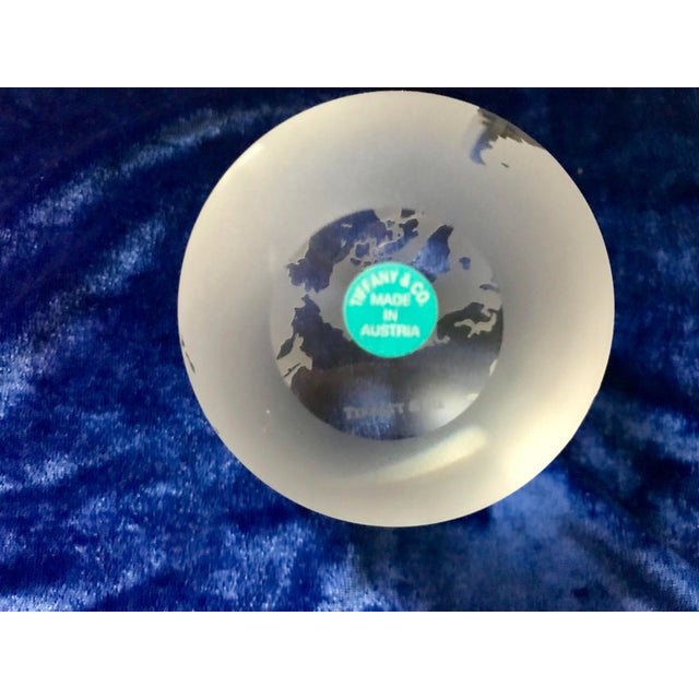 Tiffany & Co Etched Crystal World Globe Paper Weight For Sale In Saint Louis - Image 6 of 7