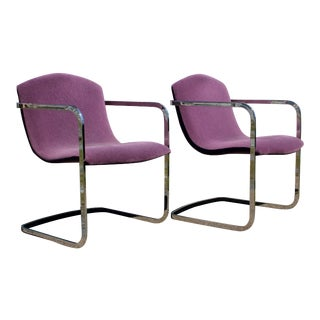 Mid-Century Cantilevered Chairs by Brueton - A Pair For Sale
