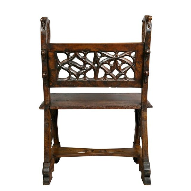 Gothic Fruitwood Bench For Sale - Image 9 of 10