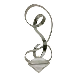 1979 Vintage Abstract Metal Sculpture by Dan Murphy For Sale