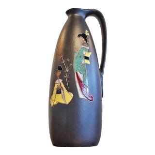 Ruscha Keramik 'Japan' Decor Handle Vase Nr. 314/2 For Sale