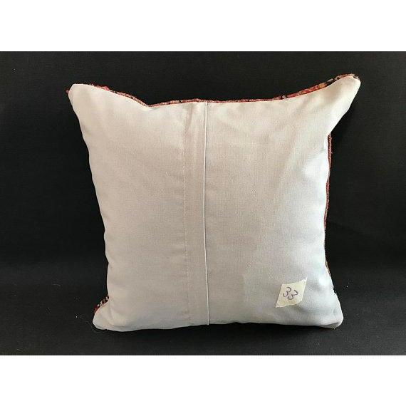 1960s Americana Handwoven Oushak Orange Pillow Case For Sale - Image 4 of 9