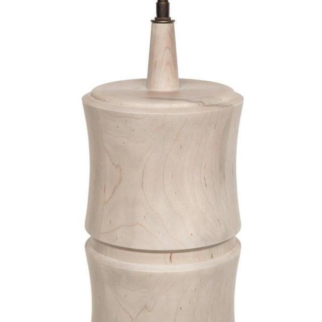 Customizable Linus Turned Maple Table Lamp - Image 2 of 2