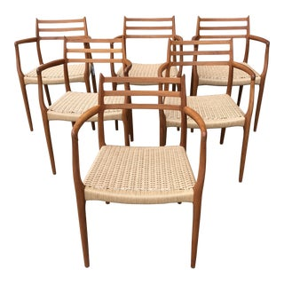 Møller for DWR Model 62 Armchairs - Set of 6 For Sale