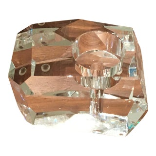 Faceted Crystal Tea Candle Holder