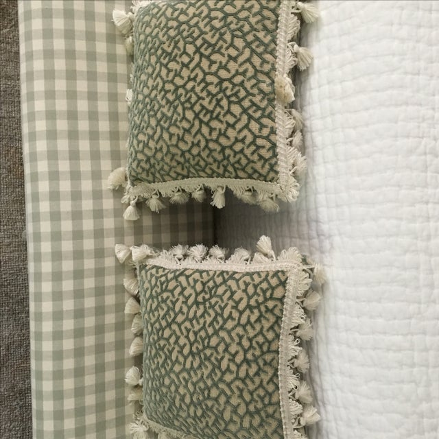 Transitional Fringed Pillows - Pair - Image 5 of 6