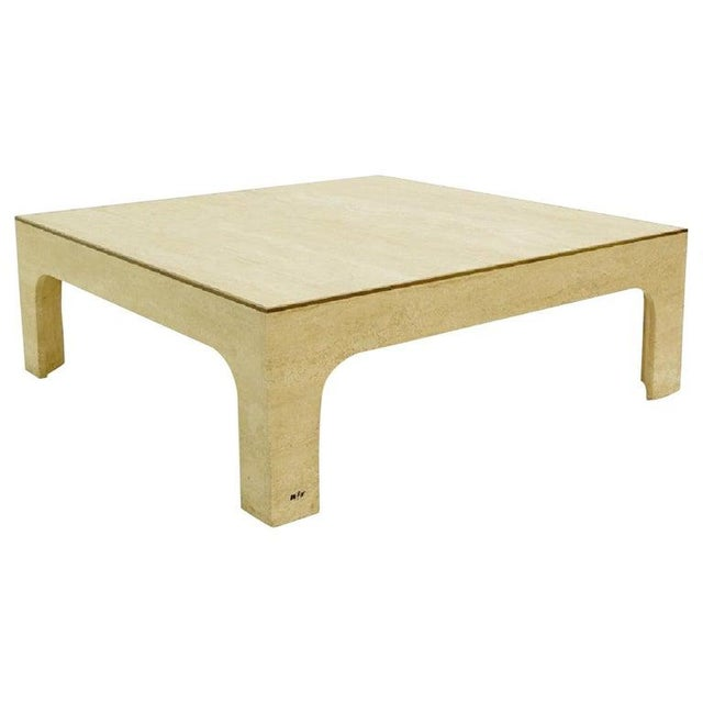 Stone Willy Rizzo Travertine Coffee Table ,1970s For Sale - Image 7 of 7