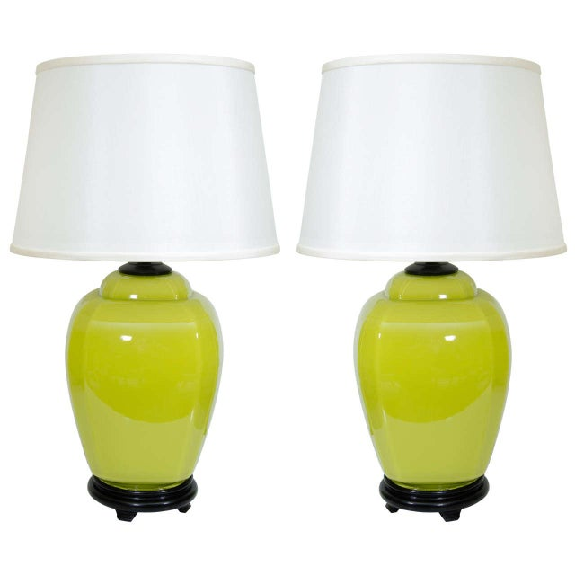 Glass Lamps - A Pair For Sale In New York - Image 6 of 6