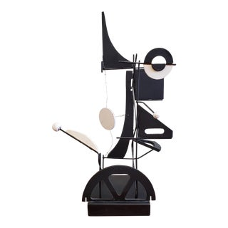 Mid Century Modern Black & White Kinetic Art Sculpture C.1950s to 1960s For Sale