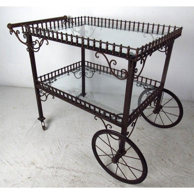 Ornate Vintage Bar or Tea Cart For Sale - Image 11 of 11