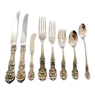 Francis I by Reed & Barton Old Mark Sterling Silver Set for 8 Flatware Set - 70 Pcs For Sale