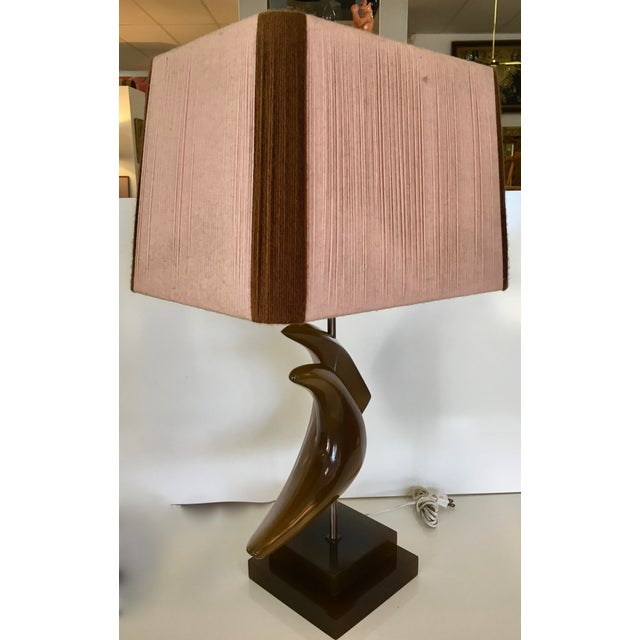 Abstract Mid-Century String Shade Table Lamp For Sale - Image 3 of 6