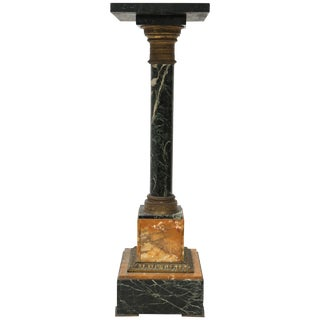 19th Century Marble and Bronze Pedestal For Sale