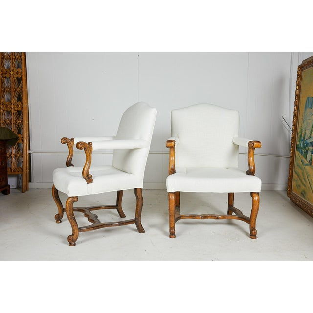Pair of Italian Armchairs For Sale - Image 12 of 13