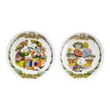 Image of 1990s Vintage Bjorn Wiinblad Concertina Rosenthal Decorative Plates - a Pair For Sale