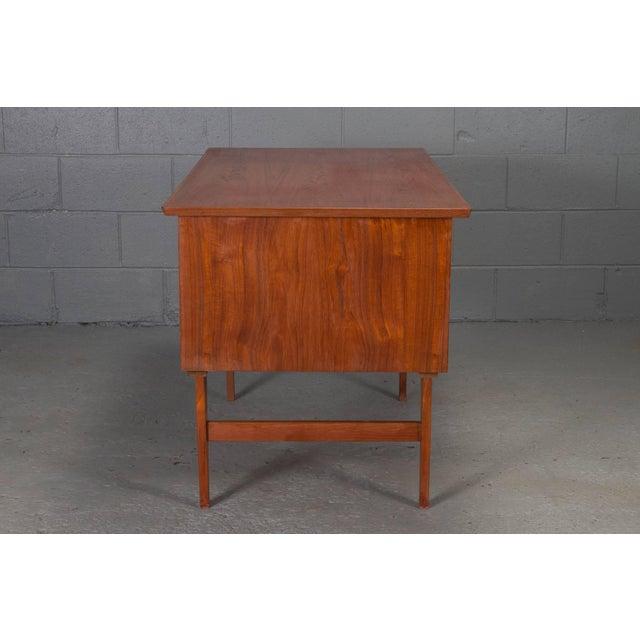 Danish Modern Teak Desk For Sale - Image 4 of 10