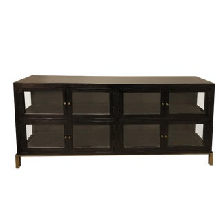 Contemporary Village Glass Doors Console Cabinet